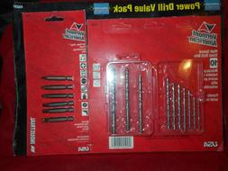 Drill Bit Set 10-piece High Speed Steel Bit Bonus 5 Screwdri