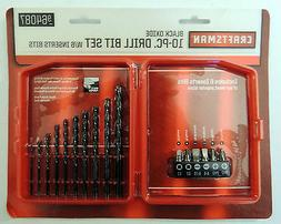 Craftsman 9-64087 Drill Bit Set with 6 Insert Bits, 10 Piece