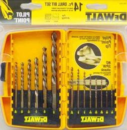 Dewalt DW1169 14-Piece Pilot Point and Drill Bit Set
