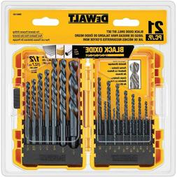 dwa1181 black oxide drill bit set 21