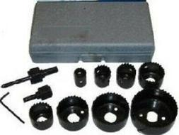 "13Pc 3/4"" to 2-1/2"" Hole Saw Set for Door Knob Lock Etc."