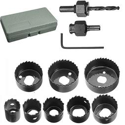 "Hole Saw Set, Drillpro 11 PCS Hole Saw Kit 3/4'' - 2 1/2 ""in"