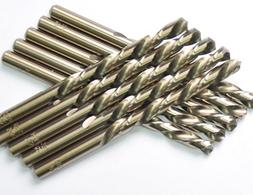 DRILLFORCE  5/32 in. x 3-1/8 in. HSS COBALT Drill Bits, Jobb