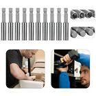 """10 x Magnetic Extension Socket Drill Bit Holder 1/4"""" Hex Pow"""