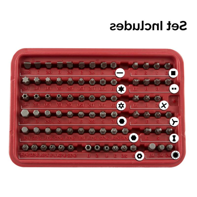 Bit Set, Chrome Steel 100-Piece