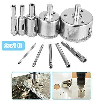 10pcs 3 50mm diamond tool drill bit