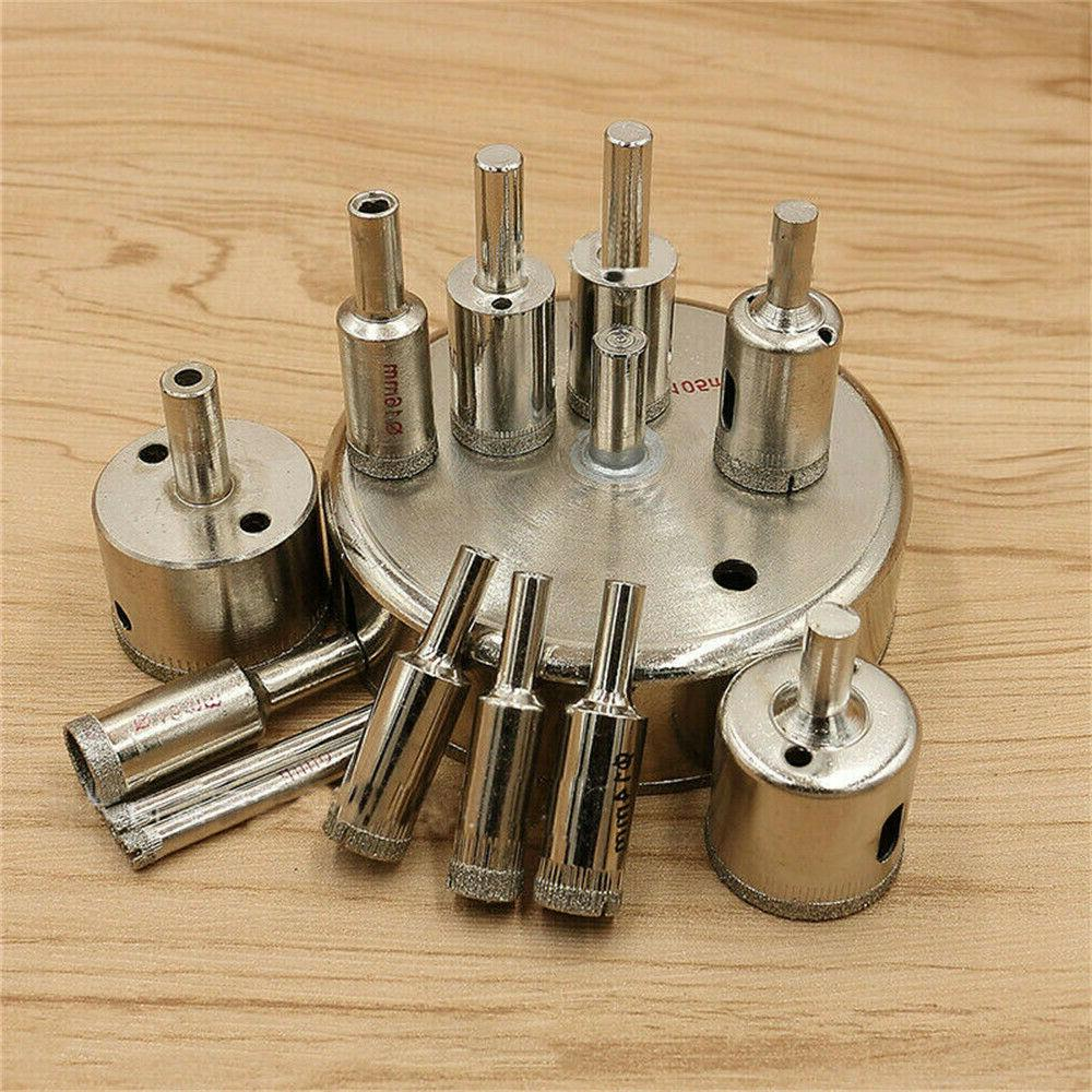 10Pcs 3-50mm Diamond Drill Cutter For Marble