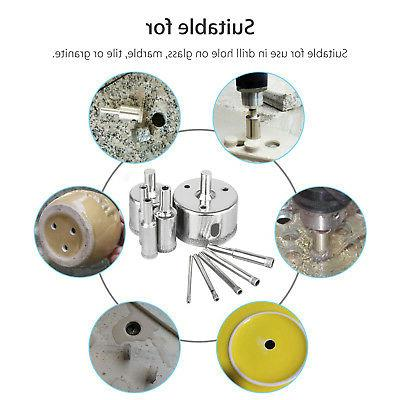 10Pcs 3-50mm Drill Hole Saw Cutter Marble