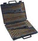 115pc HSS High Speed Steel Titanium Drill Bit Set Metal w/Ca