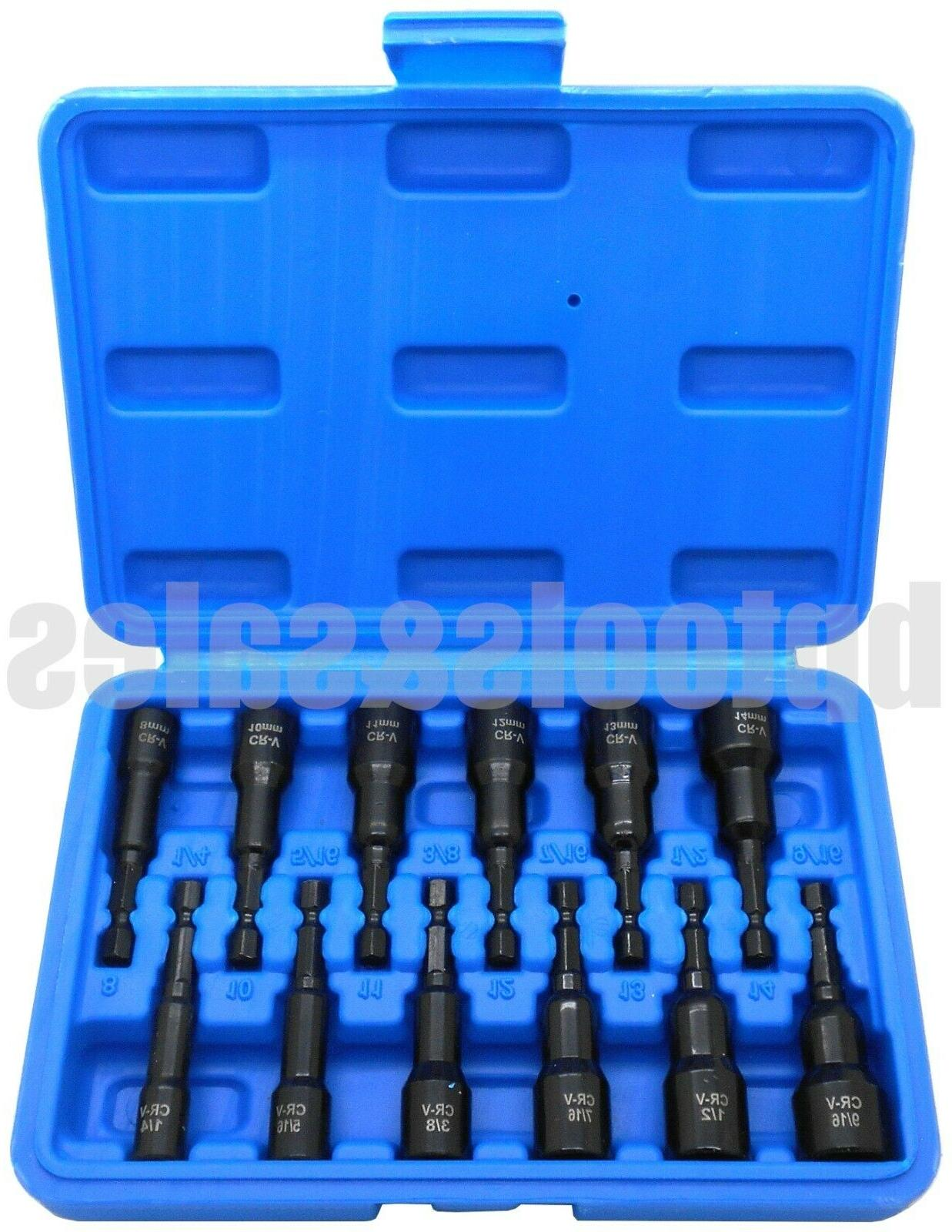 12pc magnetic nut setter metric and sae