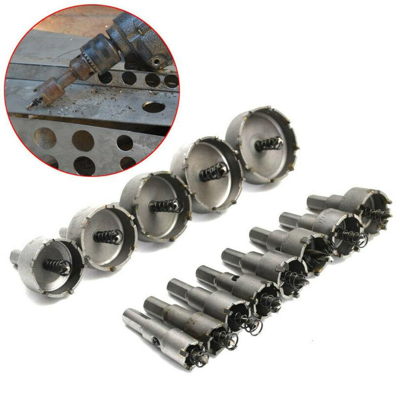 13Pc Carbide Drill Hole Saw Set Stainless Metal Alloy Cutter