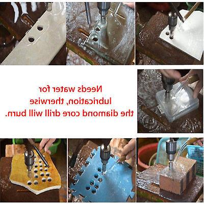 15PCS Diamond Core Bit Set Glass
