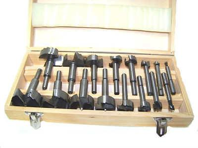 16pc Forstner Drill Bit Set Woodworking Hole Saw Forstner Se