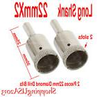 2 Pcs 22mm Diamond Drill Bits Set Hole Saw Long Shank Cutter
