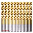 "20-piece 1/8"" Round Shank HSS Titanium Coated Twist Drill Bi"