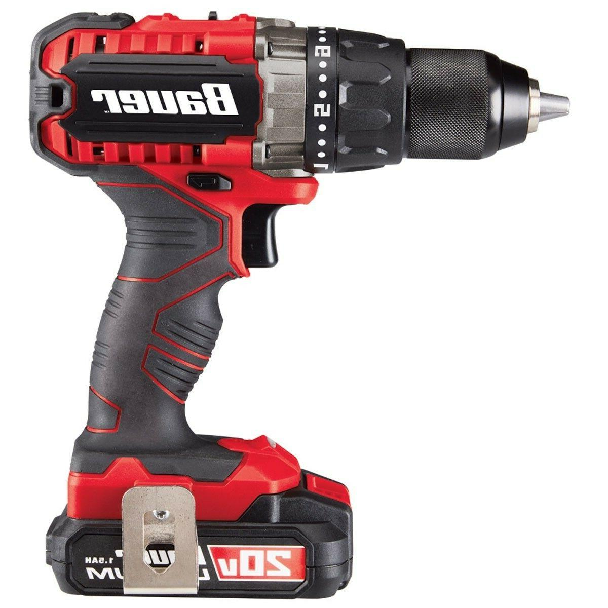 20V Lithium Drill/Driver Kit w/Battery/Charger/Bag/Bits