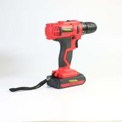 21-Volt drill Electric Cordless Drill Driver with Battery
