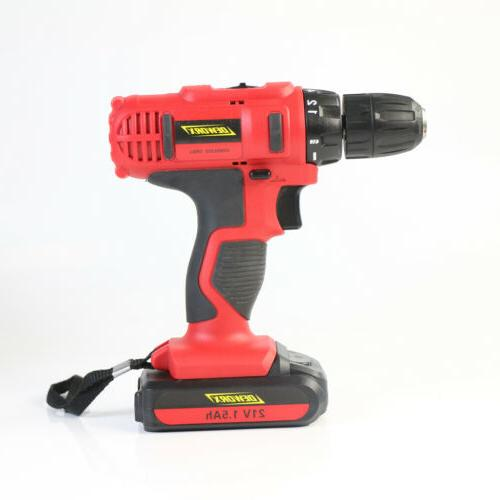 21-Volt drill 2 Electric with Bits Battery