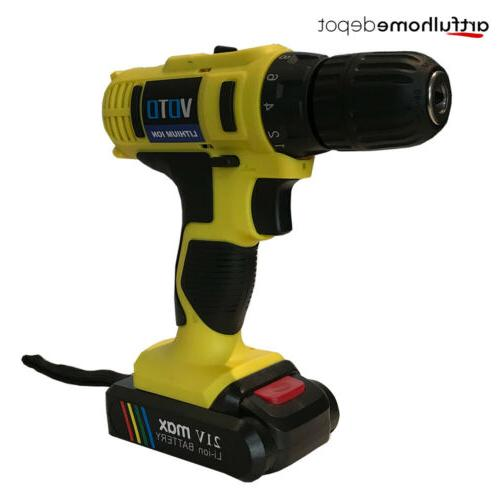 21-Volt Max 2 Speed Electric Drill/Driver with