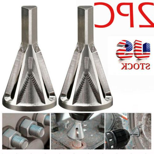 2pc stainless steel silver deburring external chamfer