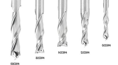 Amana 46352 Solid Compression Spiral for Mortising 3/8 x 1-1/4 1/2 3 Inch Router Bit