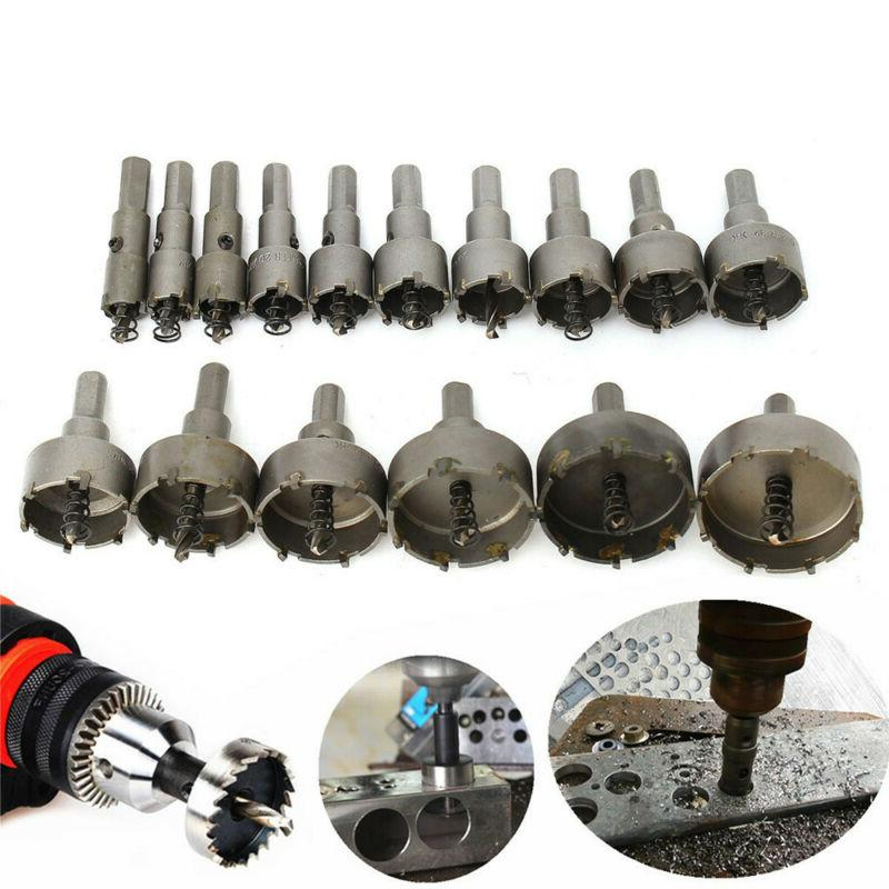 5-16PCS Carbide Drill Hole Set Stainless Alloy