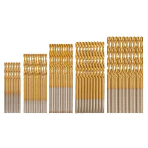 50pcs Speed Steel Titanium Coated Drill 1-3mm MINI