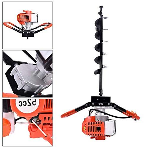 KEANTY Post Hole Digger, Gas One Man Set 3 Drill