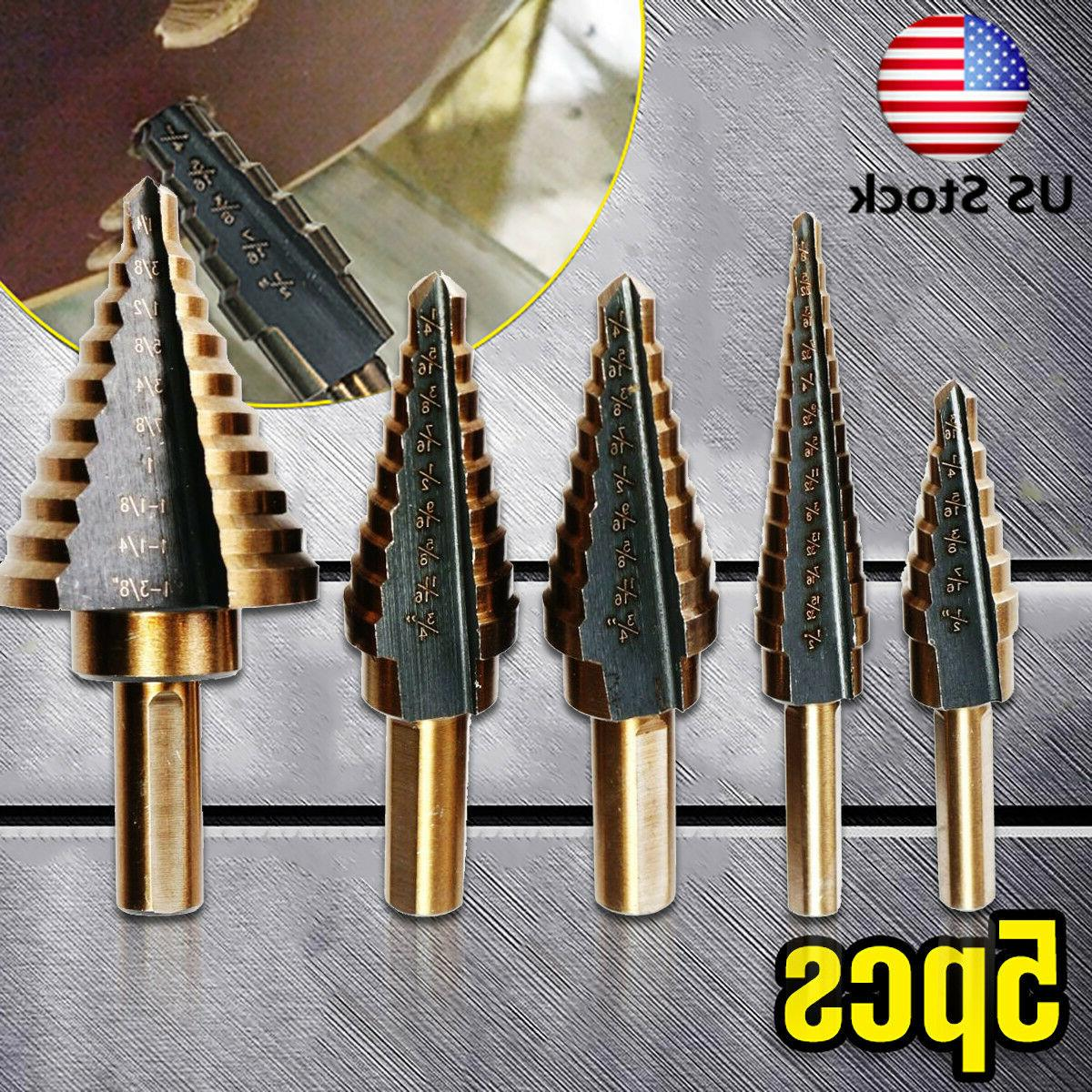 5Pcs Cobalt Multiple Hole 50 Sizes Step Drill High Speed Ste