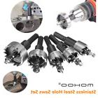 Mohoo 5PCS 16-30MM HSS Drill Bit Hole Saws Set Stainless Hig