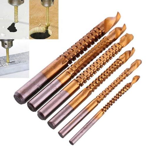 6PCS  Cutting Metal Drill Bit Set High Speed Steel Saw Grind