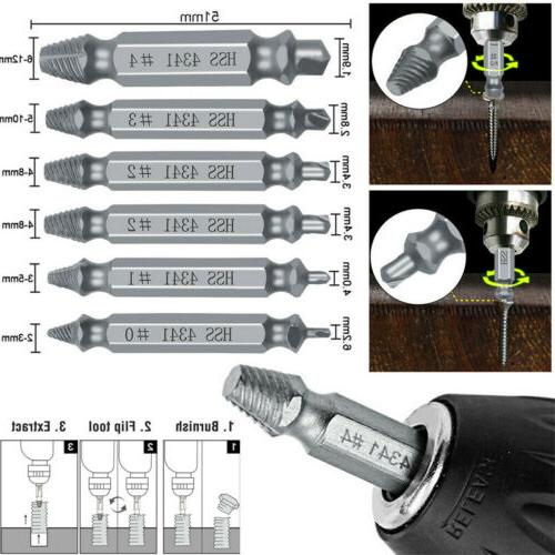 6x damaged screw extractor speed out drill