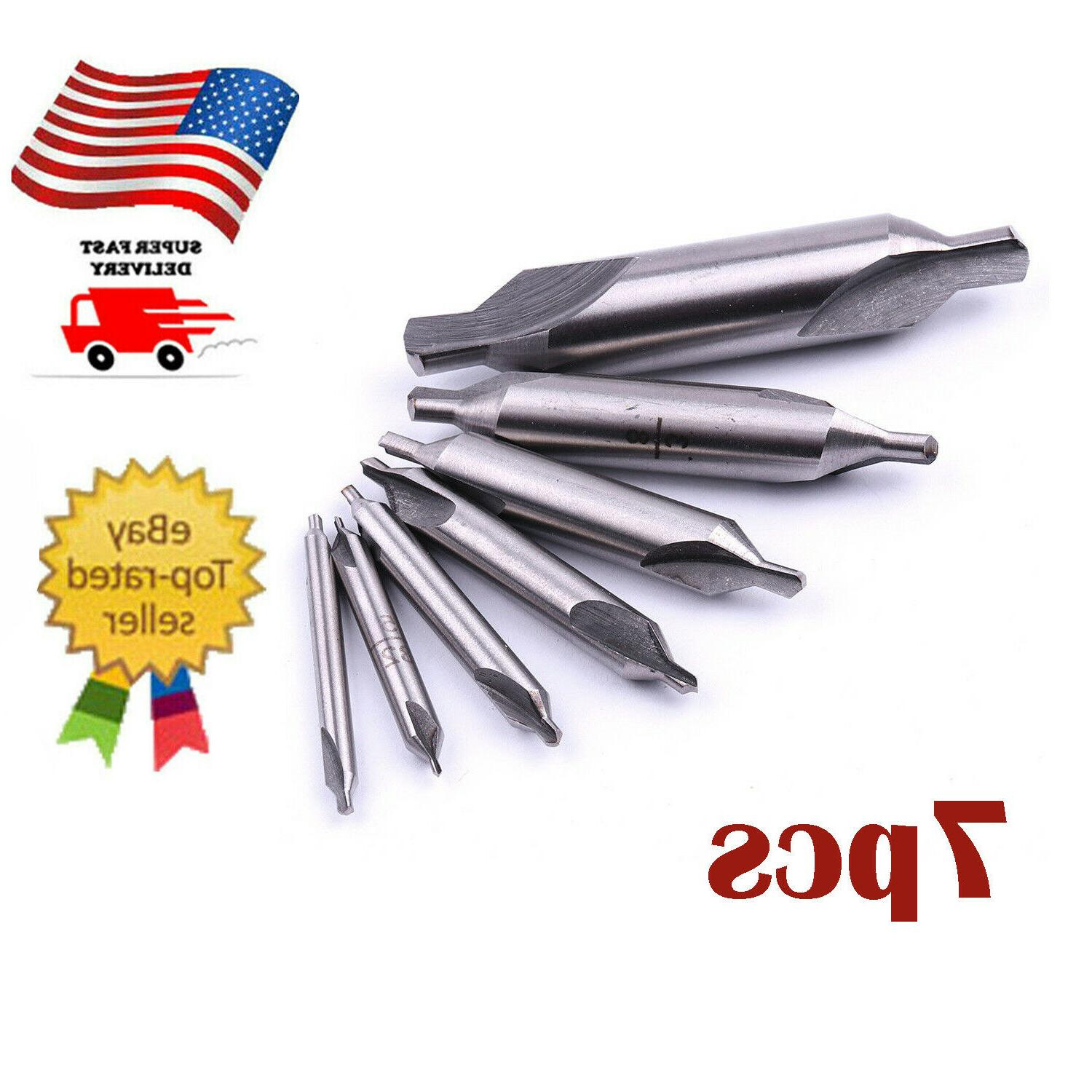 7Pc 60°Degree Combination Drill & Countersink Bit US