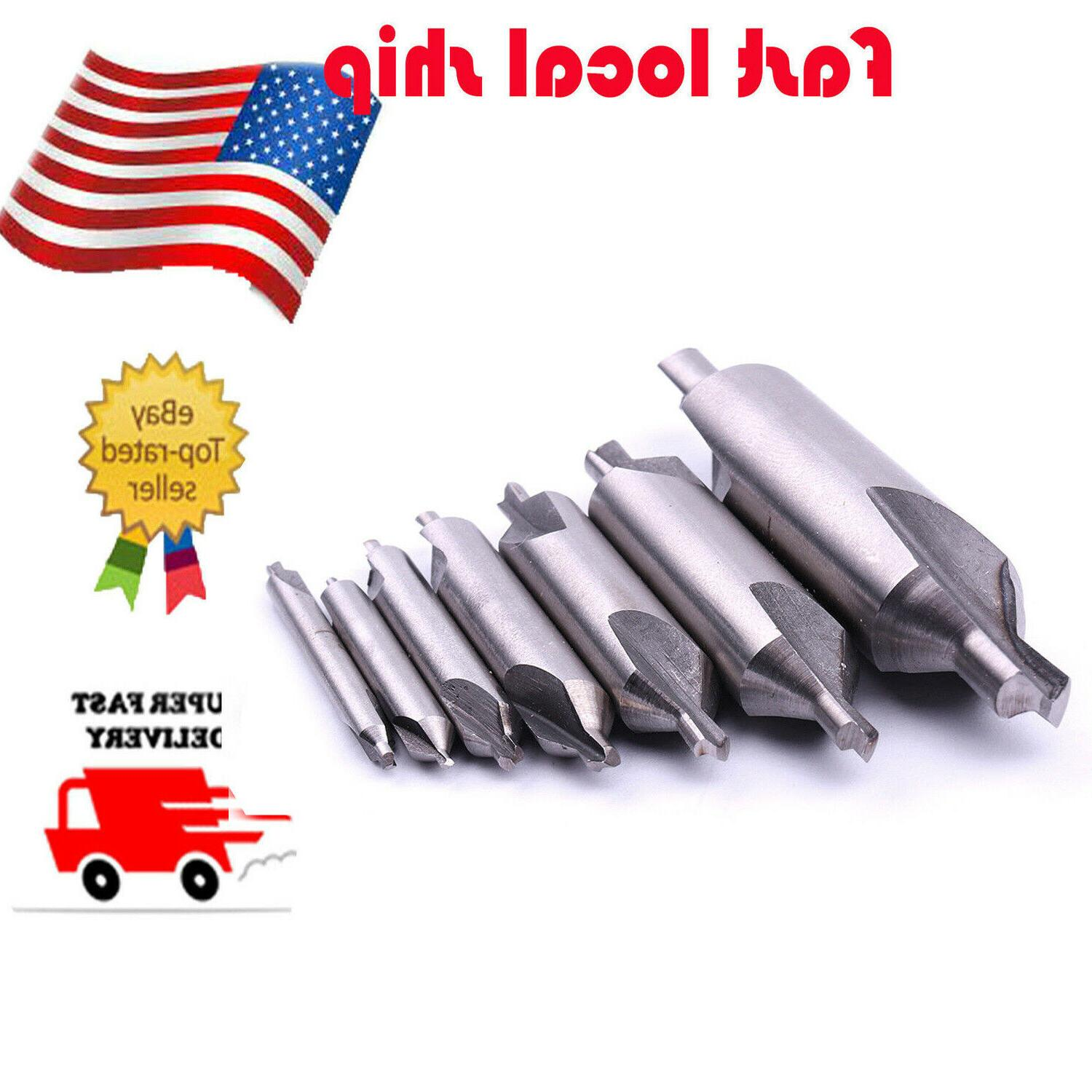 7Pc 60°Degree Combination Drill & Countersink Center Drills