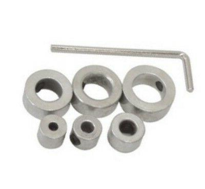 """7pc Drill Bit Depth Stop Collars Kit from 1/8"""" - 1/2 Inch"""
