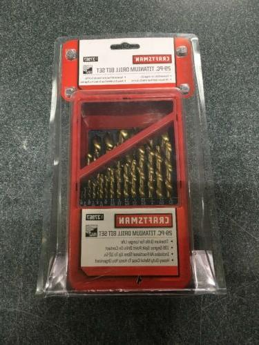 Craftsman Drill Bit Set in Metal Index 29