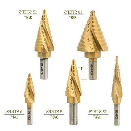 CO-Z Step Drill Bit with Center ,