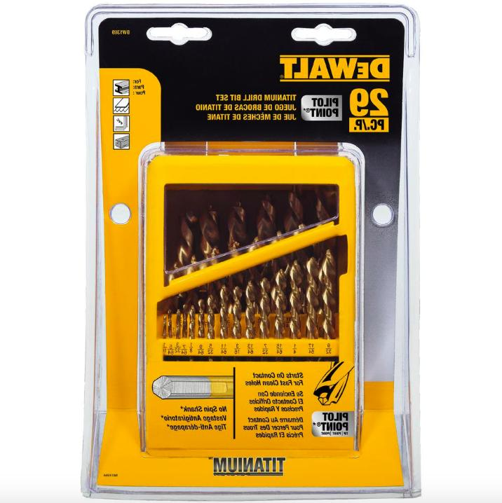 DEWALT Titanium Pilot Point Twist Drill Bit Set 29 Piece Too