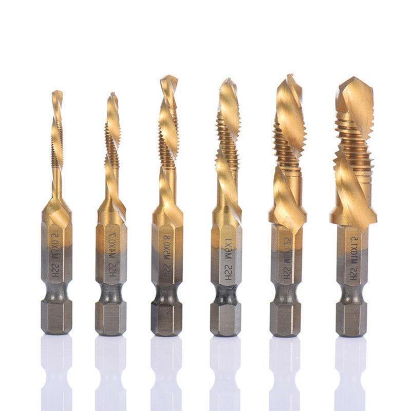 Drill Bits 6pcs Combination and Tap Set Metric Thread M3-m10