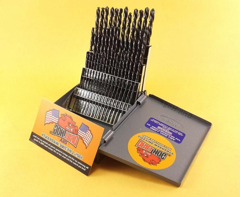 Drill Hog® 60 Pc NUMBER Drill Bit Set Wire Gauge Bits MOLY