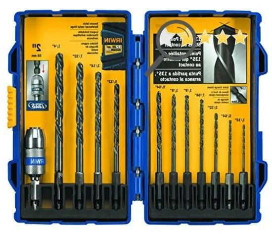 IRWIN Tools 4935643 Black Oxide Metal Index Drill Bit Set, 1