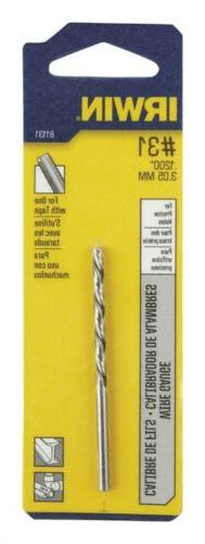 Irwin Wire Gauge Drill Bit Hss, No. 31 Carded