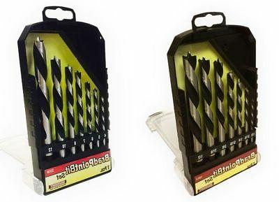 Milescraft 7 pc. Imperial and Metric Brad Point Drill Bit Se