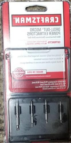 New! CRAFTSMAN 52155 Drill-Out Extractors 4 Bit in