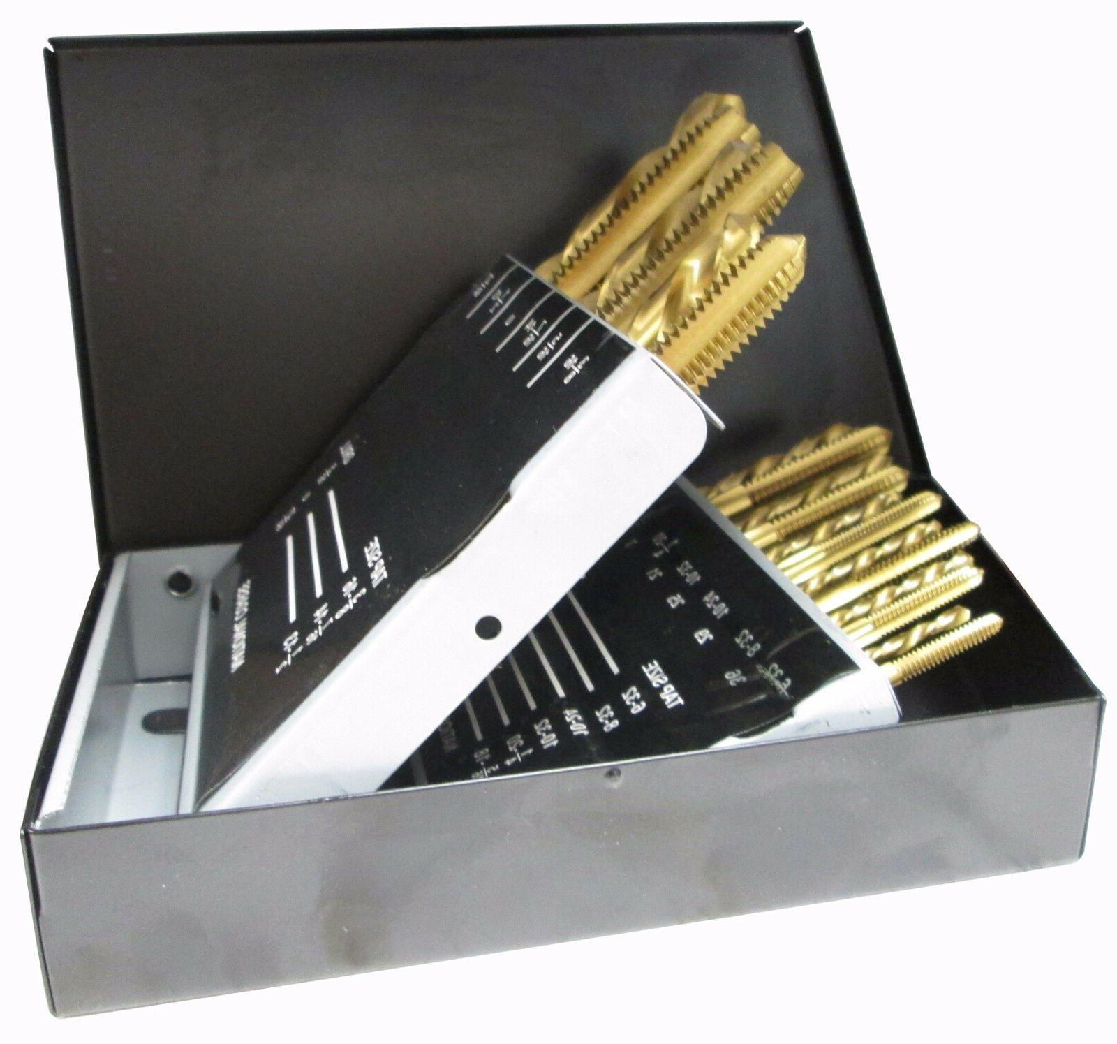 Tap & Drill Bit UNF Set - HSS Tin Coated