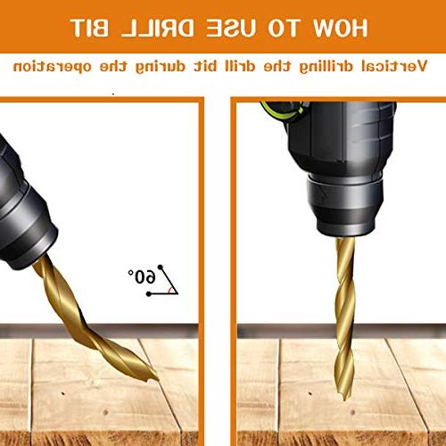 7PCS Mgtgbao Plating Bit Set Wood Set with One for Wood Woodworking Chamfer, Size.
