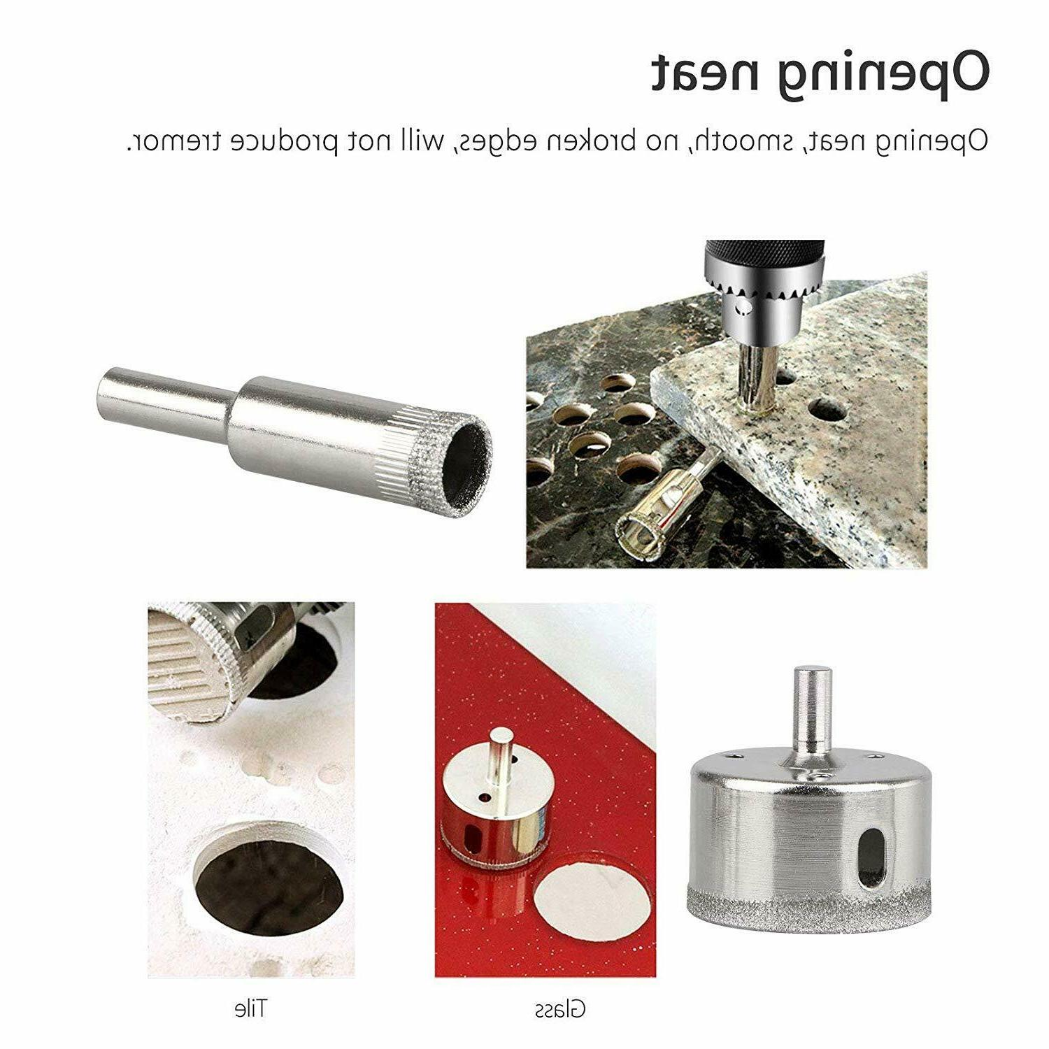 Diamond Drill Bits Cutting Hole Maker Saw for Glass