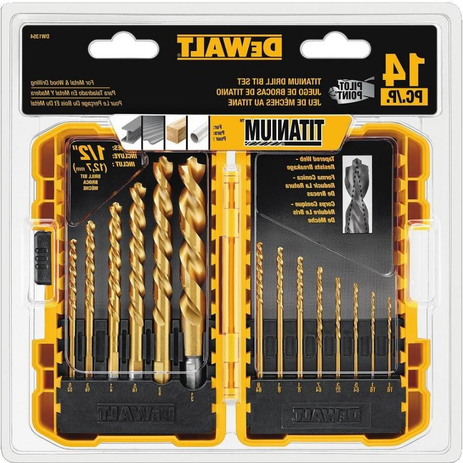 Dewalt DW1354 Pilot Point Titanium Ready Drill Bit Tool Set