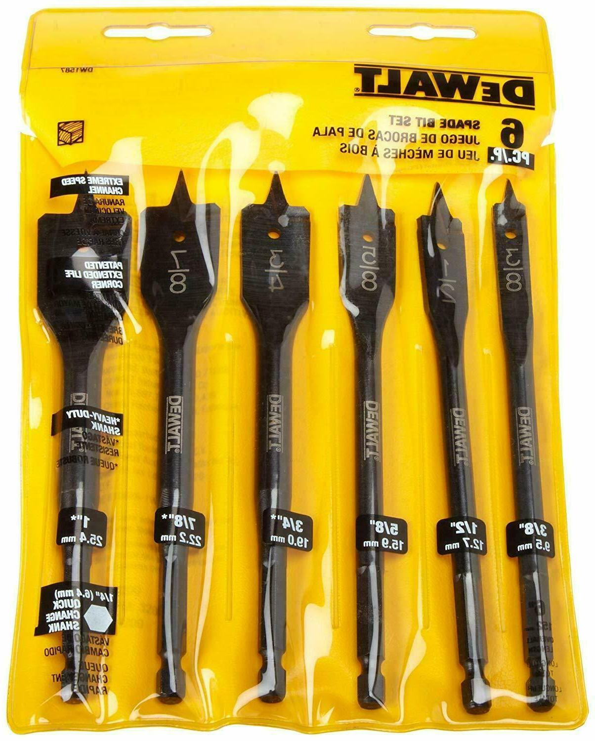 DEWALT DW1587 Bit 3/8-Inch to 1-Inch Drill Assortment