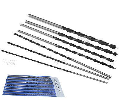 7 x 300mm Extra Long Woodworking Drill Bit Set 4 5 6 7 8 10&